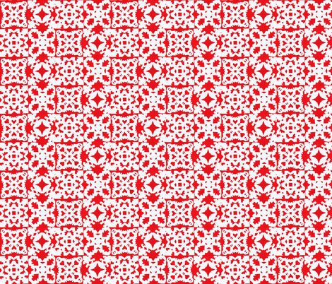 mitten snowflake block fabric by idaho13 on Spoonflower - custom fabric