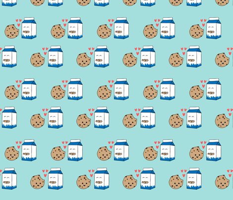 Milk Loves Cookie fabric by nadiahassan on Spoonflower - custom fabric