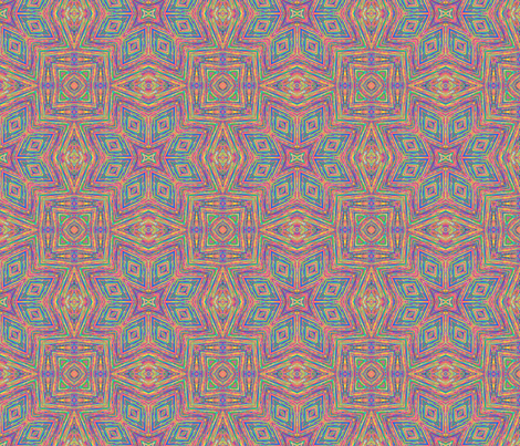 Colored String Kaleidoscope fabric by koalalady on Spoonflower - custom fabric