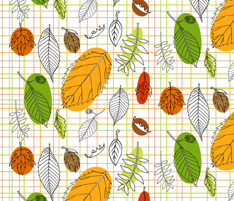 Leaves fabric by ragan on Spoonflower - custom fabric