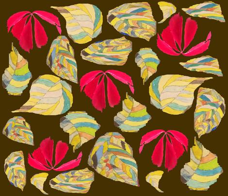 Laub1braun fabric by ruthjohanna on Spoonflower - custom fabric