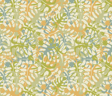 My leaves fabric by juliagrifol on Spoonflower - custom fabric