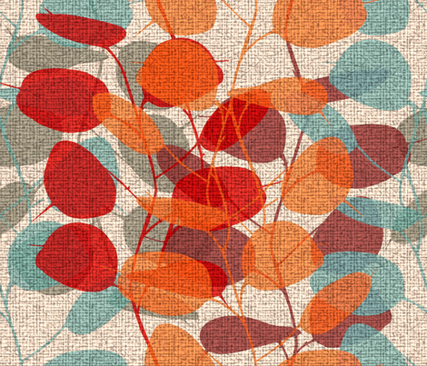 Lunaria on a Fall Day fabric by chicca_besso on Spoonflower - custom fabric
