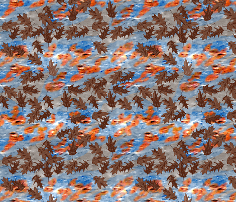 Oak_leaves_Floating_on_the_Water_I fabric by khowardquilts on Spoonflower - custom fabric