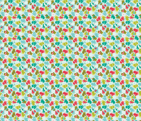 Ditsy Mittens fabric by alissecourter on Spoonflower - custom fabric