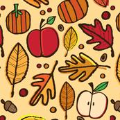 Autumn Leaves (beige)