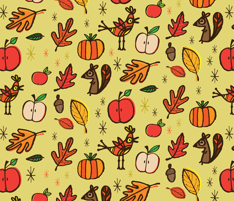 Squirrel fabric by edward_elementary on Spoonflower - custom fabric