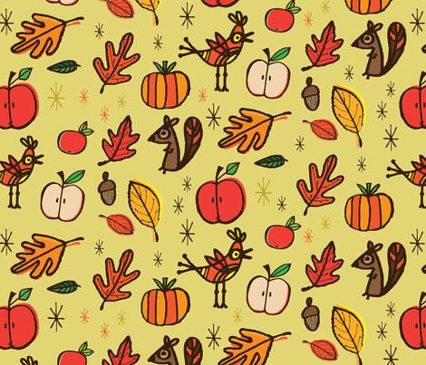 Squirrel fabric by edward_elementary on Spoonflower - custom fabric