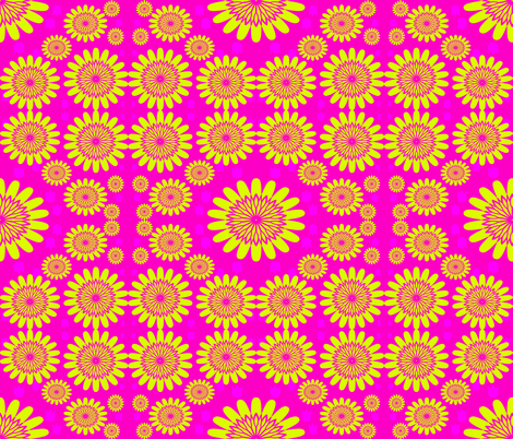 Yellow Flowers on Pink Background fabric by sew_delightful on Spoonflower - custom fabric