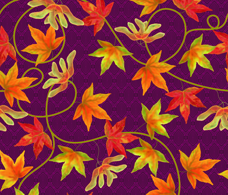 Waltz of the Maples fabric by shellypenko on Spoonflower - custom fabric