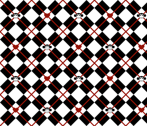 Macabre Argyle fabric by staceyjean on Spoonflower - custom fabric