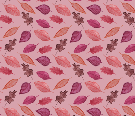 Watercolor Leaves fabric by abbyg on Spoonflower - custom fabric