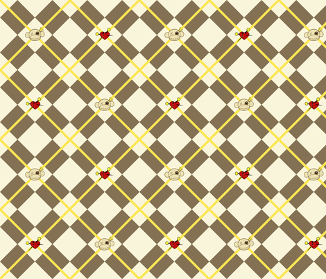 Voodoo Argyle fabric by pumpkinbones on Spoonflower - custom fabric