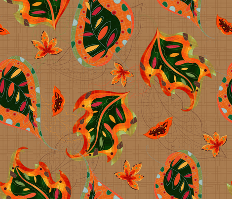Autumn Jive - © Lucinda Wei fabric by simboko on Spoonflower - custom fabric