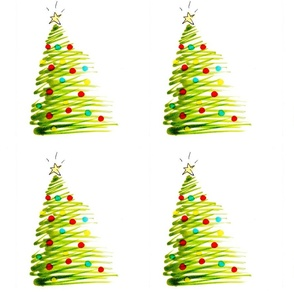 Christmas Tree Wrapping Paper by Brad Hines-ed