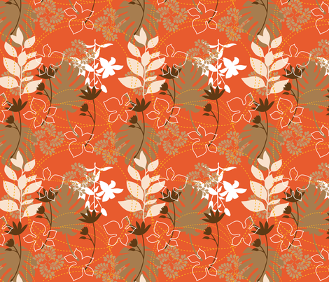 Autumm_leaves fabric by luhaddad on Spoonflower - custom fabric