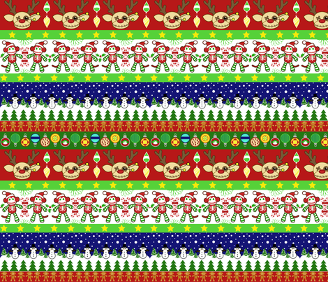 A Very Macabre Ugly Sweater fabric by staceyjean on Spoonflower - custom fabric
