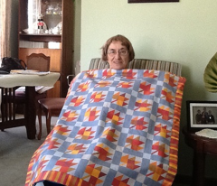 Maple block quilt