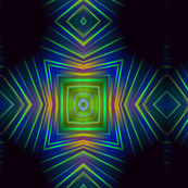 A Geranium Zoom Blur kaleidoscope