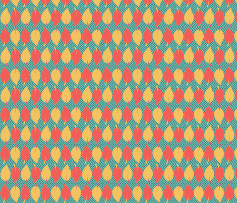 Fall Leaves fabric by the_green_ampersand on Spoonflower - custom fabric