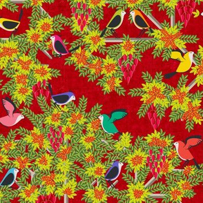 Le Jardin Des Oiseaux Rouge