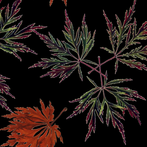 Japanese Maples fabric by eronel on Spoonflower - custom fabric