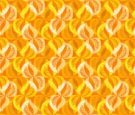 Birch Leaf Woodblock fabric by elramsay on Spoonflower - custom fabric