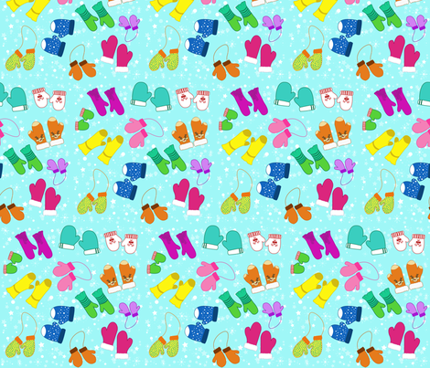 Ditsy Mittens fabric by staceyjean on Spoonflower - custom fabric