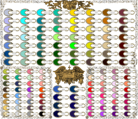 Peacoquette Designs ~ 2014 Color Palette  fabric by peacoquettedesigns on Spoonflower - custom fabric