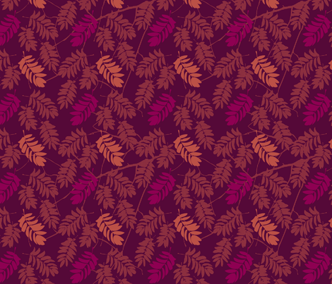 mountain_ash_fall fabric by mimihammill on Spoonflower - custom fabric