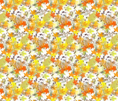 leaves fabric by rennata on Spoonflower - custom fabric