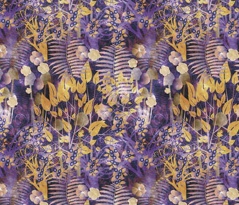autumnal forest fabric by kociara on Spoonflower - custom fabric