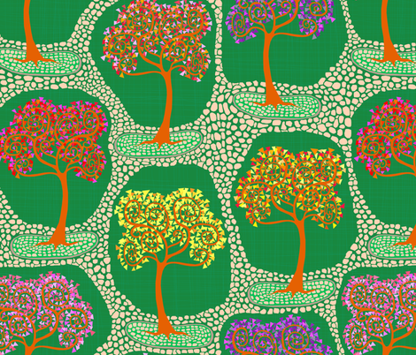 Saturday in the Park fabric by rubydoor on Spoonflower - custom fabric