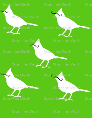 mustache_birds on green