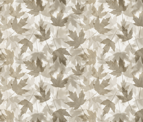 Maple Layers - warm grey fabric by linkolisa on Spoonflower - custom fabric