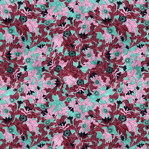 victorian wallpaper purple