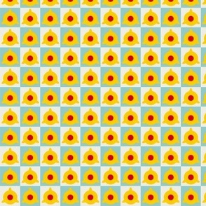 Yellow Red Atoms Small