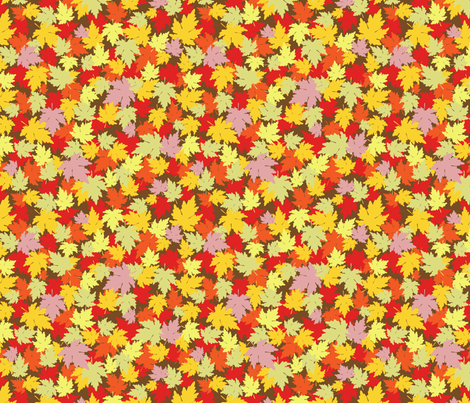 Autumn Fall Leaves fabric by sarahjtwist on Spoonflower - custom fabric