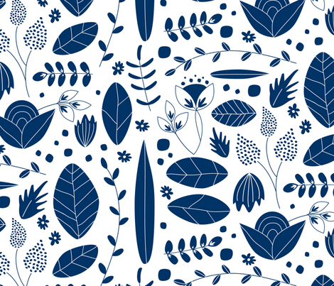blue fabric by wysedesigns on Spoonflower - custom fabric