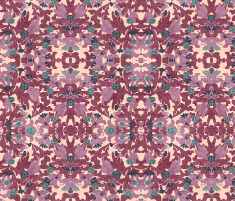 victorian wallpapers antique purple fabric by kociara on Spoonflower - custom fabric