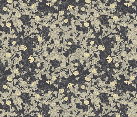 victorian wallpaper antique gold fabric by kociara on Spoonflower - custom fabric