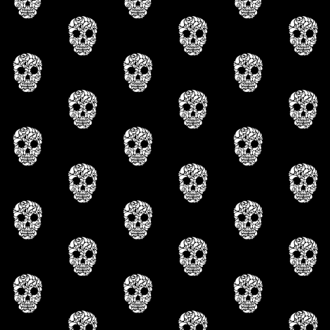 Skullz fabric by brainsarepretty on Spoonflower - custom fabric