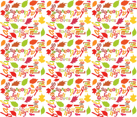 fall_leaves fabric by scifiwritir on Spoonflower - custom fabric