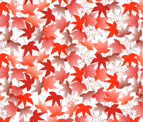 Red Leaf fabric by mrshervi on Spoonflower - custom fabric