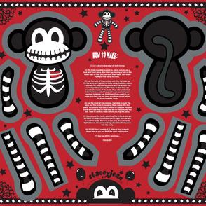 """YD - 30"""" Macabre the Skeleton Monkey Cut & Sew Doll"""