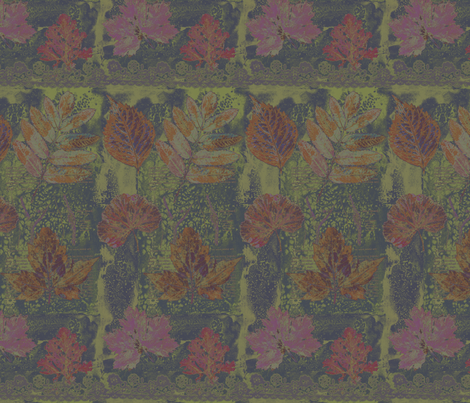 Fall leaves fabric by linsart on Spoonflower - custom fabric