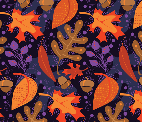 Autumn Royalty fabric by robinpickens on Spoonflower - custom fabric