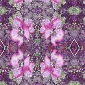 Pansy -pink tile