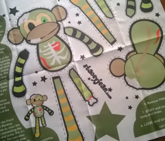 "12"" Ralph the Zombie Monkey Doll (fat quarter)"
