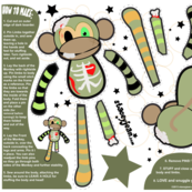 FAT QUARTER - Ralph the Zombie Monkey Plush Doll